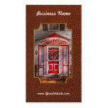 Door - Winter - Christmas kitty Double-Sided Standard Business Cards (Pack Of 100)