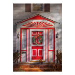 Door - Winter - Christmas kitty Personalized Announcement