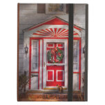 Door - Winter - Christmas kitty iPad Folio Cases