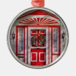 Door - Winter - Christmas kitty Christmas Tree Ornaments