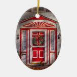 Door - Winter - Christmas kitty Ornament