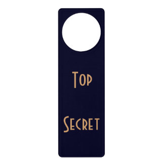 Doorhanger dark blue door knob hanger