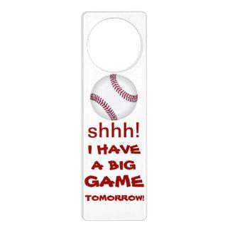 doorhanger del béisbol colgante para puerta