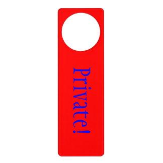 Doorhanger red door knob hangers