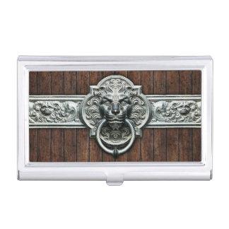 Doorknocker elegante y elegante del vintage caja de tarjetas de presentación