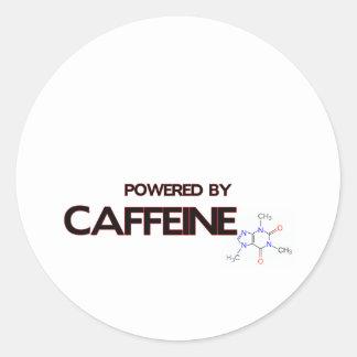 Doorman accionado por el cafeína etiquetas redondas