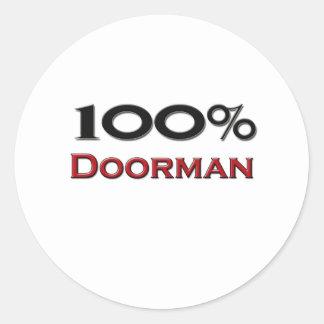 Doorman del 100 por ciento etiqueta redonda