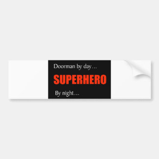 Doorman del super héroe pegatina para auto