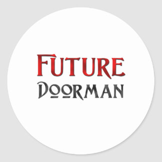 Doorman futuro etiquetas redondas