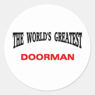 Doorman Etiquetas Redondas