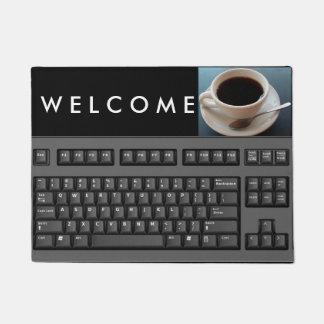 Doormat del teclado de ordenador felpudo