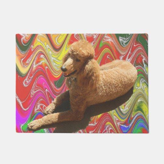 Doormat Red Poodle Doormat Zazzle Com