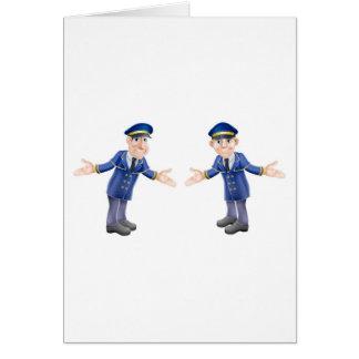 Doormen or bellhops greeting cards