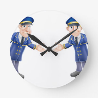 Doormen or bellhops wall clock