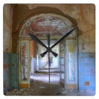 Doors and Corridors 03.0.2, Lost Places, Beelitz Square Wall Clock