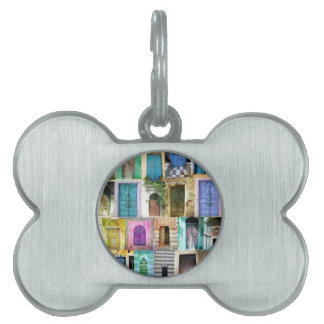 Doors and Windows from Around the World Pet Name Tag