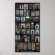 Doors of Argentina Print