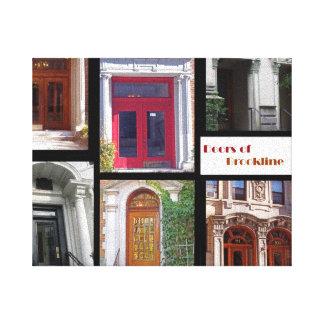 Doors of Brookline Canvas Print
