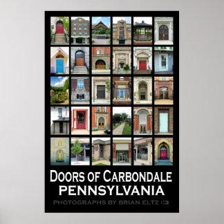 """Doors of Carbondale Pennsylvania"" Poster"