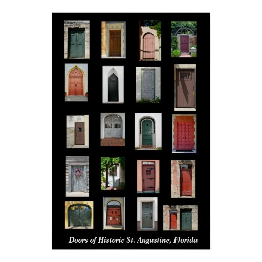 Doors of Historic St. Augustine, Florida Poster