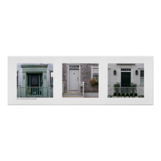 Doors of Nantucket, Massachusetts Triptych Poster
