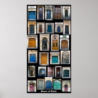 Doors of Paris Poster