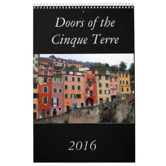 Doors of the Cinque Terre 2016 Calendar
