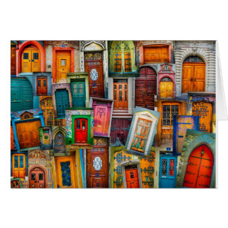 Doors of the World Blank Note Card