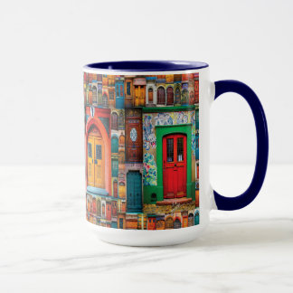 Doors of the World International Doors Blue Mug