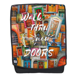 Doors of the World Unique Modern Back To School Backpack