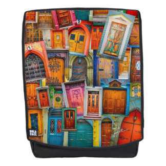 Doors of the World Unique Modern Colorful Backpack