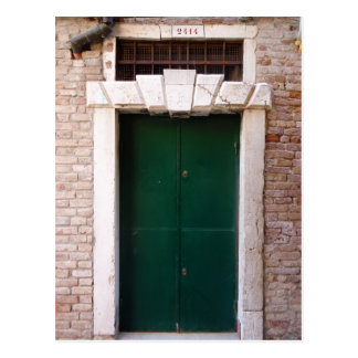 doors of venice, italy postcard