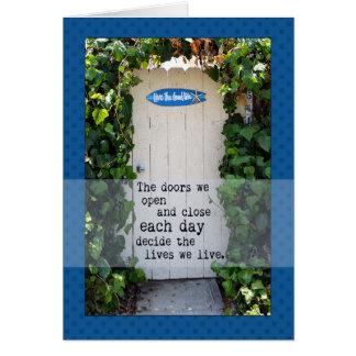 Doors We Open door photograph Greeting Card