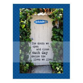 Doors We Open door photograph Postcard