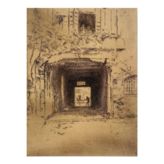 Doorway and Vine by James Abbott McNeill Whistler Posters