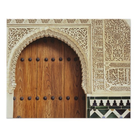 Doorway at the Alhambra palace in Granada, Spain 2 Poster