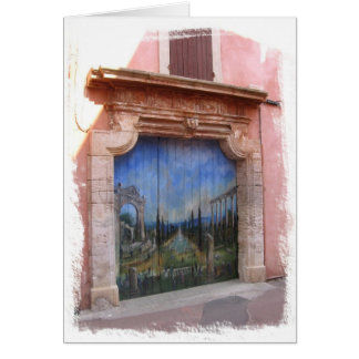 Doorway in Roussillon Card