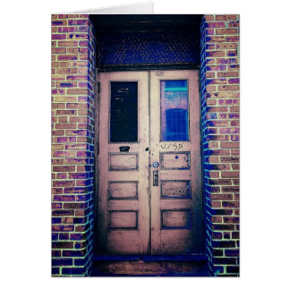 Doorway in Worcester Greeting Card