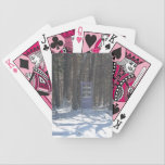 "Doorway into the Forest Bicycle Playing cards<br><div class=""desc"">Doorway into the forest on Pink Faced Bicycle playing cards.</div>"
