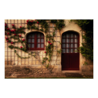Doorway of rose cottage poster