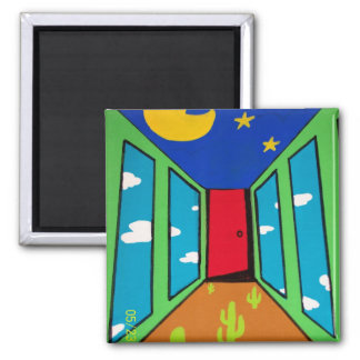 Doorway to ? 2 inch square magnet