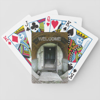 Doorway to a Haunted Quonset Shelter Bicycle Playing Cards