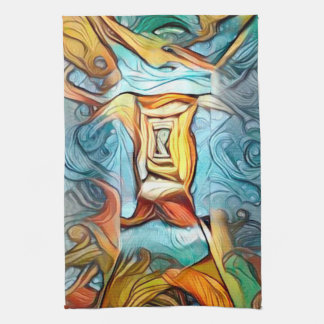 Doorway to beyond, abstract expression dreamscape towel