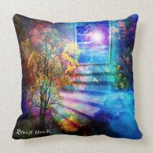 Doorway to Heaven Throw Pillows