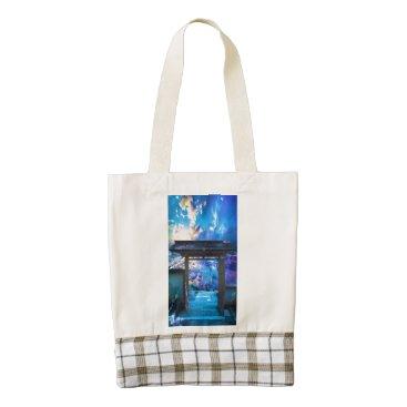 Ocean Themed Doorway to Heaven Zazzle HEART Tote Bag