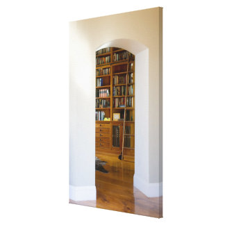 Doorway to Home Library Canvas Print