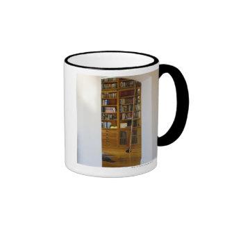 Doorway to Home Library Ringer Coffee Mug