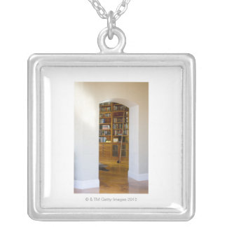 Doorway to Home Library Silver Plated Necklace