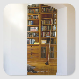 Doorway to Home Library Square Sticker