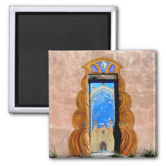 Doorway to Santa Fe Magnet 2 Inch Square Magnet